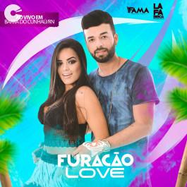 Capa: Furacão Love - Ao vivo em Barra do Cunhaú - RN